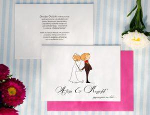 śmieszne zaproszenie na ślub